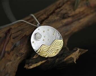 Ocean Waves 3D Necklace