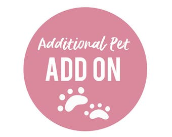 Additional Pet Add On