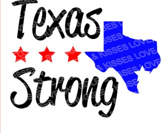 Texas Strong Red,White and Blue