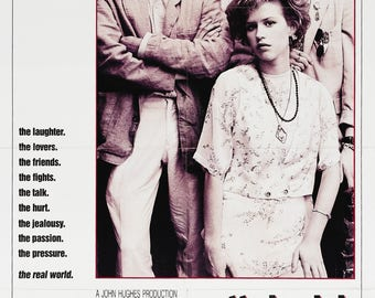 Pretty in pink movie poster A4 size