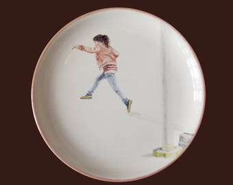 Plate crack, ceramics, art, handpainted, food-safe, use
