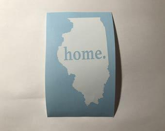 Illinois Home Vinyl Decal