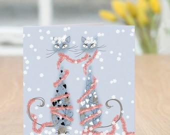 Tinsel & Tinsel - Cats Christmas Card