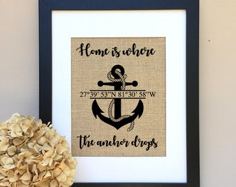 ON SALE Beach Decor Beach Wedding GiftHome is where the anchor drops