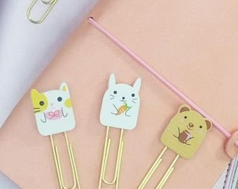 Cute Planner Paper Clips, TN Clips, TN Charms, Cute Kawaii Paperclips, Planner Stationary Accessories