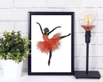 ballet dancer print - ballet dance art - ballet printable - ballet art print - ballet printable - ballet gifts for teacher - ballet gifts