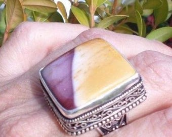 RING Silver 925 and Jasper Mookaite
