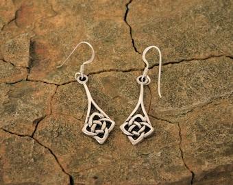 Irish Knot Dangle Earrings Celtic Earrings Irish jewelry