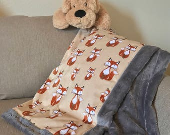 Cuddle Baby Blanket - Foxes