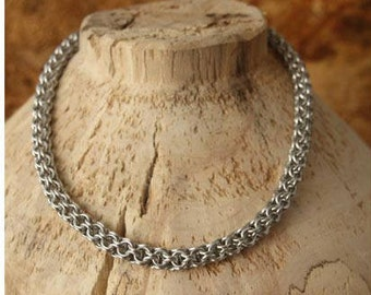 Chain maille necklace choker/Chain maille necklace choker