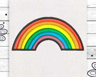 LGBT embroidery Rainbow patch Discount 10% Digital embroidery design 4 sizes INSTANT DOWNLOAD EE5015