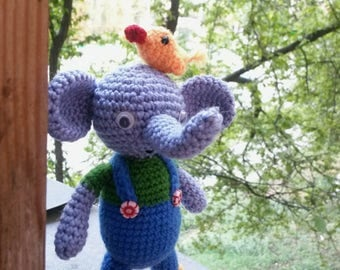 Crochet elephant; knitted toy; amigurumi; вязаный слоник