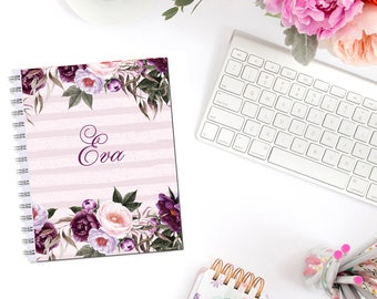 Plum Garden Personalized Monogram Planner Cover Erin Condren Life Planner Recollections A5 Personal Pocket Dashboard Happy Planner B6