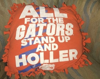 University of Florida Upcycled Pillow
