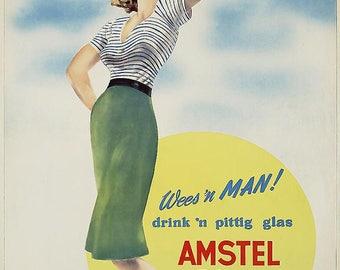 Amstel Bier (Dutch) bar poster
