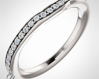 Platinum Diamond Wedding Band Engagement Ring Wedding Ring Bridal Ring