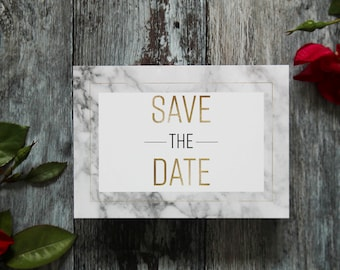 Marble save the date,  modern wedding marble save the date card, marble wedding announcement card, printed wedding save the date cards