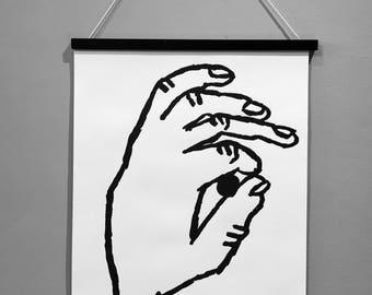 Hand SCREENPRINT A2