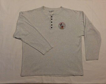 Vintage Mickey & Co. LS Henley - Size Large