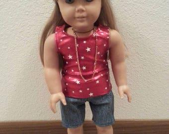 "18"" Doll Tank top and shorts"