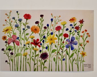 Poster print, Art Print, Watercolor Flowers, Wildflowers, Colorful, Painting