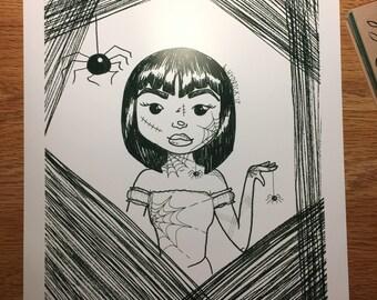 Spider Queen Print