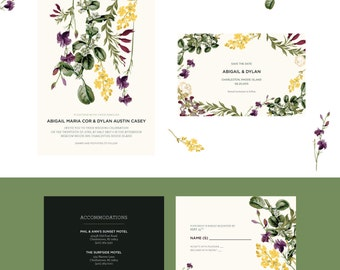 Forest Flower Wedding Invitations