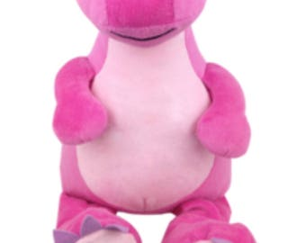 Personalised pink Dino embroidered cubbie