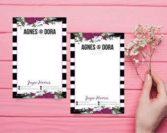 Agnes and Dora Note Card, Note Card Agnes and Dora, Custom Agnes And Dora, Digital Agnes and Dora, Printable File