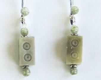 Carver Chinese Serpentine Earrings