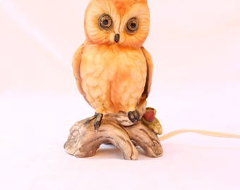 Vintage Ardalt OWL LAMP Night Light Figurine #7050 Japan Fine Quality Lenwile China