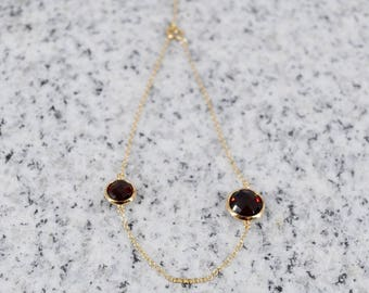 18k Garnet Bracelet
