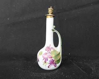 rare flacon à parfum ancien en grès Molinard jeune Grasse, art-nouveau, old perfume bottle,