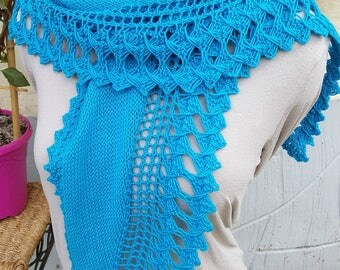 Hand or shoulder cover - Hand knitted Wrap shawl