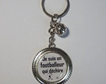 "Keychain football ""I'm a football that tears"" /ballon Football/Dad gift"