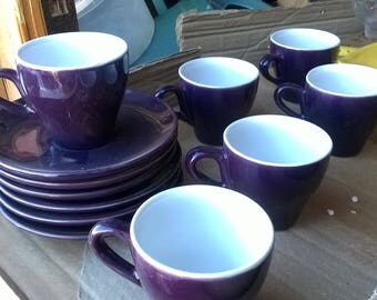 484) set of 6 coffee cups