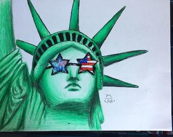 Original Statue of Liberty Drawing