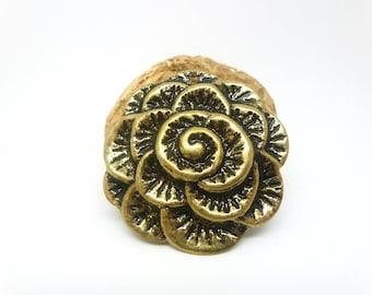 1 light pendant Fleur 38 mm antique bronze (XBB03)