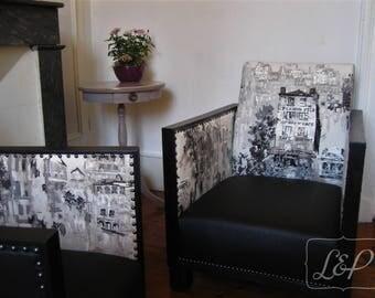 Chair Studio Art deco 30s restored, old Paris
