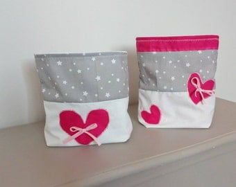 Set of bags for toiletries storage