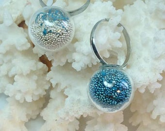"""Pair of rings """"Blue"""""""