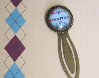 "Gift for nanny/nursery Assistant: ""Super nanny"" bookmark"