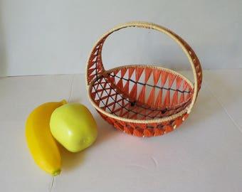 Vintage raffia basket basket basket original 60s