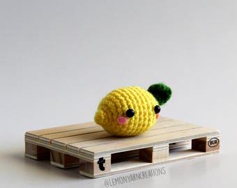 Mini Lemon Crochet Amigurumi Plush Keychain - Lemony the Mascot