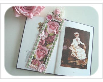 "Great bookmarks of romantic, ""Cascade of Roses"""