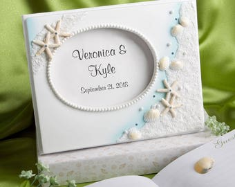 Personalized Finishing Touches Collection Beach Themed Wedding Guest Book