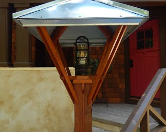Arts And Crafts/Mission Style Post Lamp | Post Light | Outdoor Light |  Exterior