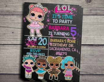 LOL Surprise Invitation, LOL Surprise Birthday Party Invite, LOL Surprise Printable And Digital File, lol Surprise