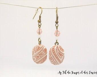 Ovale Mélodie pendant earrings