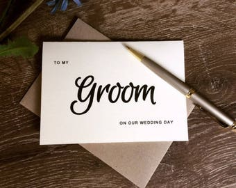 to my groom on our wedding day, to my groom card, card for groom, wedding day card to my groom, groom gift, husband card